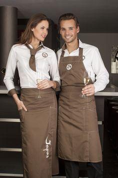 Over Poco bedrijfskleding • poco Cafe Uniform, Waiter Uniform, Hotel Uniform, Staff Uniforms, Work Uniforms, Kellner Uniform, Chef Dress, Waitress Apron, Uniform Design