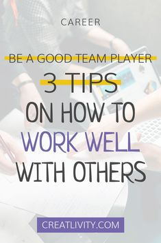 It's not just the leader that needs to focus on team building. Be a good team player, work well with others. Business tips. team building activities. Entrepreneur inspiration.