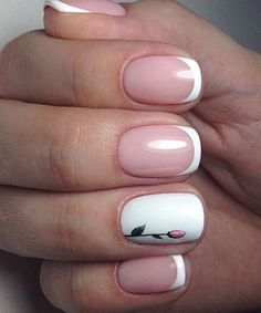 Awesome Little Poppy on White Nail Art Designs
