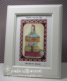 Uptown Girl Molly by Stamping Bella done by Paula Williamson - gojuss as usual!!!