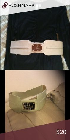 Nine West corset belt Gorgeous, but don't fit me! Pair with so many different outfits, I am so sad this don't fit me! My loss is your gain!😊🎀 Nine West Accessories Belts