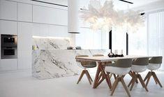 View in gallery minimal kitchen marble minimalist kitchen ideas that are not boring Küchen Design, Home Design, Layout Design, Design Ideas, Design Inspiration, Interior Minimalista, Luxury Kitchen Design, Best Kitchen Designs, Kitchen Ideas