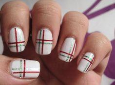 16 Superb Striping Tape Nail Art Designs - http://slodive.com/nails-2/16-superb-striping-tape-nail-art-designs/