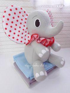 Elefante em feltro - festa circo em feltro - riquezinha atelie