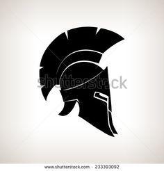 spartan helmet side view vector - Google Search