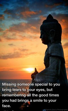 Missing someone special to you bring tears to your eyes, but remembering all the good times you had brings a smile to your face. - Nishan Panwar