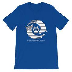 Dog Sport Supply Company - Patriotic T-Shirt Grey Logo