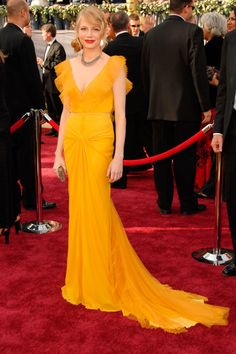 Michelle Williams, in Vera Wang, at the 2006 Academy Awards.