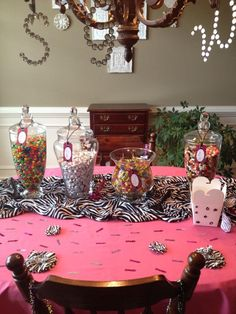 Candy Bar set up for 13 Year old birthday party