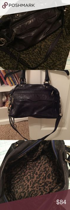Rebecca Minkoff Mini MAB Authentic dark blue leather Rebecca Minkoff MAB, EUC. Comes with cross body strap and dust bag. Rebecca Minkoff Bags Crossbody Bags