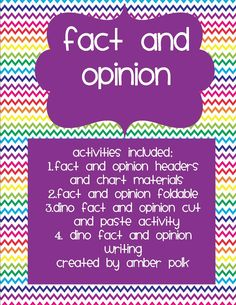 Spring Break, where are you? Still a week away.   In Shared Reading this week, our focus skill has been Fact and Opinion. Third graders sh...
