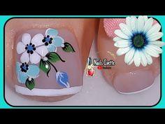 Pretty Toe Nails, Pretty Toes, Love Nails, Finger Nail Art, Toe Nail Art, Bling Nails, Manicure And Pedicure, Diy Flowers, Nail Designs