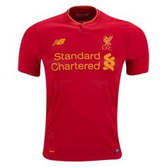 Liverpool 16/17 Home Soccer Jersey - Check out the latest British Premier League Soccer Jerseys and your favourite clubs apparel for 2016/17 at WorldSoccershop.com