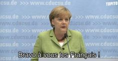 [VIDEO] Angela Merkel parle de France Allemage et reste fair-play