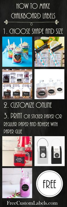 How to make chalkboard labels? Use our free label maker to make custom chalkboard labels within minutes. Free instant download.