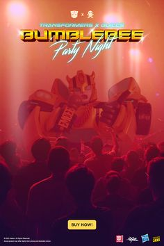 Party night never stops 🎉 Transformers x Quiccs: Bumblebee picks up the cord on 23 Dec, 10am EST 🎤 Designer Toys, Transformers, Cord, Around The Worlds, Night, Artist, Party, Movie Posters, Cable