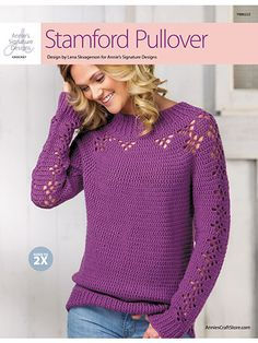 Stamford Crochet Pullover from Annie's Signature Designs https://www.anniescatalog.com/detail.html?prod_id=134189
