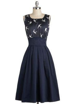 Andorinhas e vestidos