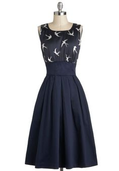 I think this might be one of the prettiest dresses ever ever ever. The Polite Pairing Dress in Birds, #ModCloth #partydress