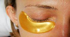 «Máscara de oro» para la piel alrededor de los ojos
