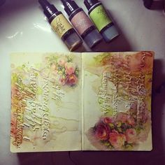 Have to try this technique with modeling oaste, inks and napkin decoupage! | Marta Lapkowska: Freedom of my journal pages + HOW TO TUTORIAL