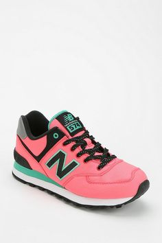 New Balance neon windbreaker running sneaker. A classic now in neon! #urbanoutfitters