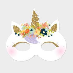Invitation Masque Licorne - Anniversaires/Les invitations - Faites un carton