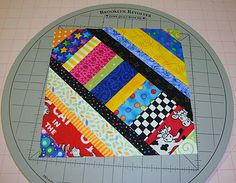 Love this, very easy and will forgive the not so straight seams. #string quilt.  Great tutorial from Fabric Therapy