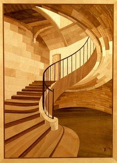 This piece is by Zoltan Vargay. I love his light and curves. My great great grandfather Peter Glass has some beautiful Marquetry tables in the Smithsonian. I love the warm rich tones of the different woods.