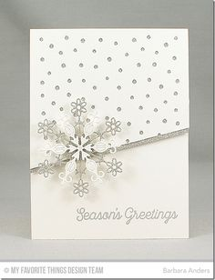 Season's Greetings by Bar – Cards and Paper Crafts at Splitcoaststampers – Christmas DIY Holiday Cards Homemade Christmas Cards, Christmas Cards To Make, Xmas Cards, Handmade Christmas, Homemade Cards, Holiday Cards, Christmas Crafts, Christmas Cookies, Stamped Christmas Cards