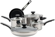 Farberware High Performance Stainless Steel 12-Piece Cookware Set -- See this awesome image  : Cookware Sets