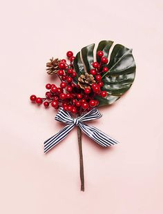 Merry Berry Monstera Bush for Christmas Decor and Holiday