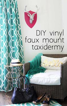Take a borin faux taxidermy piece and make it way more interesting with a little adhesive vinyl in just a few minutes.