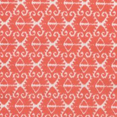 possible fabrics for nursery  Spa Ikat in Coral by Michael Miller