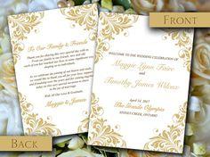 Wedding Program Templates Program Template And Wedding Programs On Pinterest
