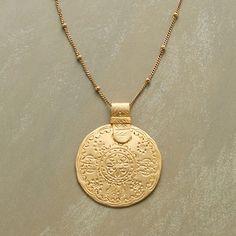 Gold Pendant | SUNLIT SHORES NECKLACE
