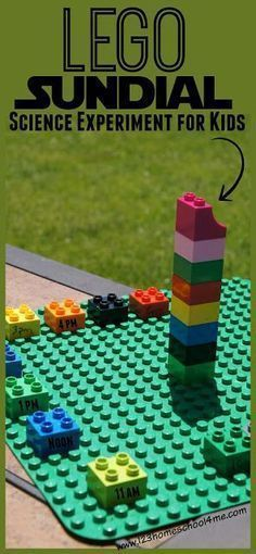 LEGO Sundial Science Experiment plus many other fun hands on science activities for learning about the sun and our solar system for preschool, kindergarten, 1st grade, 2nd grade, 3rd grade, 4th grade and more (astronomy, homeschool,)