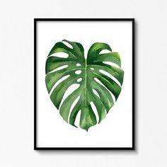 Feuille de Monstera feuilles tropicales Monstera par ArtbyASolo