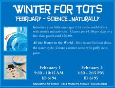 """""""All the Water in the World"""",Winter for Tots 2016-2017 at the Muscatine Art Center."""