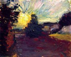 "bofransson: "" Sunset in Corsica Henri Matisse - 1898 """