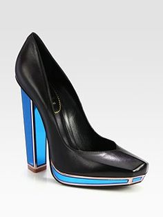 Yves Saint Laurent - Leather Mirror Heel Platform Pumps