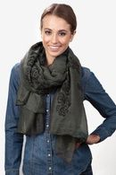 Charcoal Polyester Floral Crosses Scarf Purple Polyester Morgan Solid Scarf  Black Polyester What A Hoot Scarf  Kelly Green Viscose Rainbow Sparkle #Scarf     see here from scarves,com  http://www.planetgoldilocks.com/womens_clothing.htm   #fashionscarves #accessories   #womensfashions #scarves  #springscarves