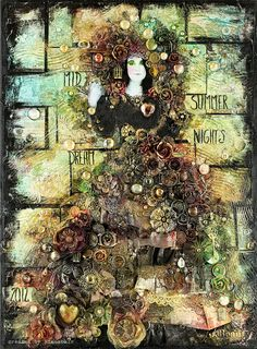 Midsummer Nights Dream - collage (70x50 cm) by finnabair, via Flickr