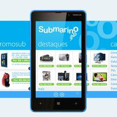 Submarino app for windows phone by Robson Pereira, via Behance