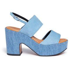 Robert Clergerie Denim platform sandals JbGIGq
