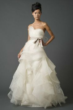 Jill Stuart Bridal 2011 Wedding Dress Collection beautiful Love everything Vera Wang! the shoulder is special designed and the diamonds on i. 2015 Wedding Dresses, Wedding Gowns, Wedding Cake, Grecian Wedding, Mermaid Wedding, Dresses 2014, Lace Mermaid, Tulle Wedding, Prom Dresses