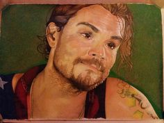 Illustration of Clayne Crawford