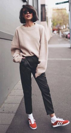 trendy ootd knit + pants
