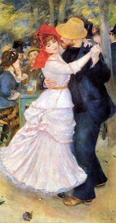 Dance at Bougival, 1882–1883, (woman at left is painter Suzanne Valadon), Boston Museum of Fine Arts