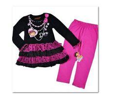 2 delige dora set in 116/122 direct leverbaar   Maat 116 Meisjes direct leverbaar   mooie betaalbare kleding